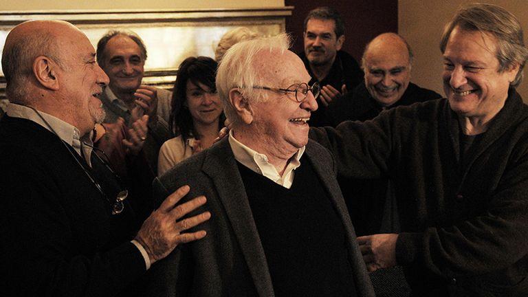 Osvaldo Santoro, Pepe Soriano y Jorge Marrale, autoridades de la Sociedad Argentina de Gestión de Actores Intérpretes