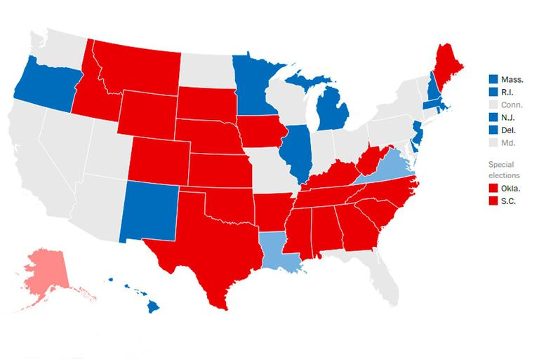 Se voto por la renovación de un tercio del Senado: entraron 22 republicanos y 9 demócratas