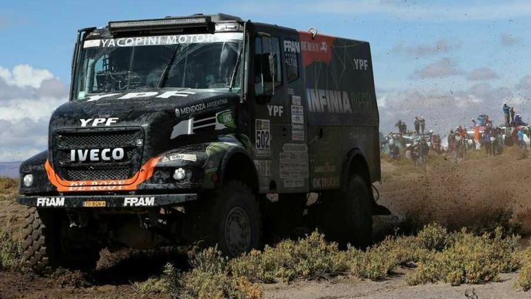El camión de Federico Villagra