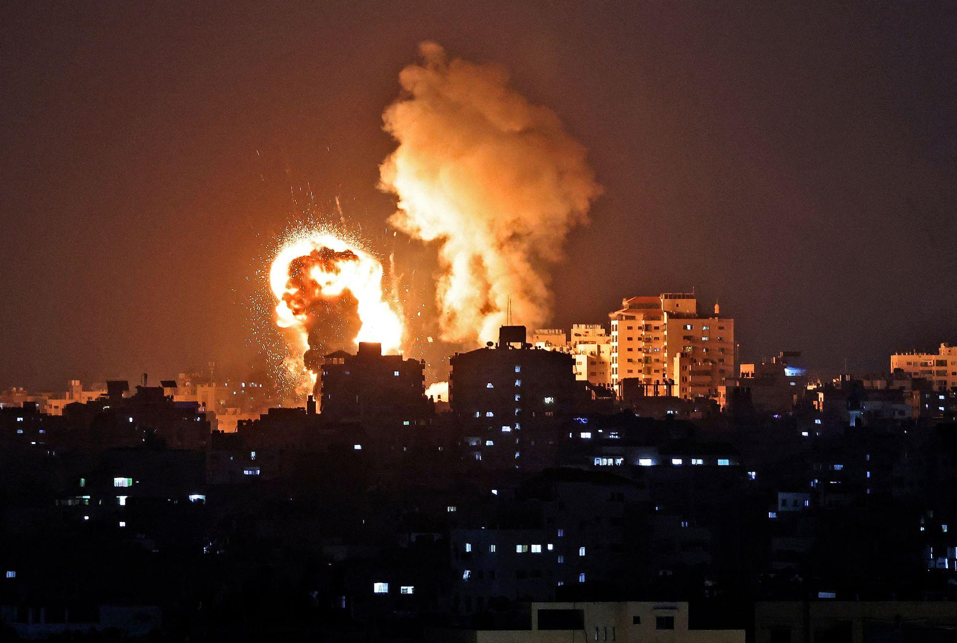 Ataque de fuerzas israelíes contra la Franja de Gaza, el 10 de mayo de 2021