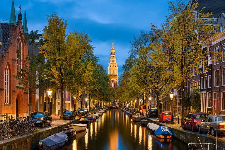 Una vista de la ciudad de Amsterdam