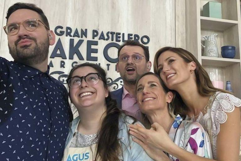 Agustina Fontenla, en una selfie tomada en la gala de eliminación de Bake off