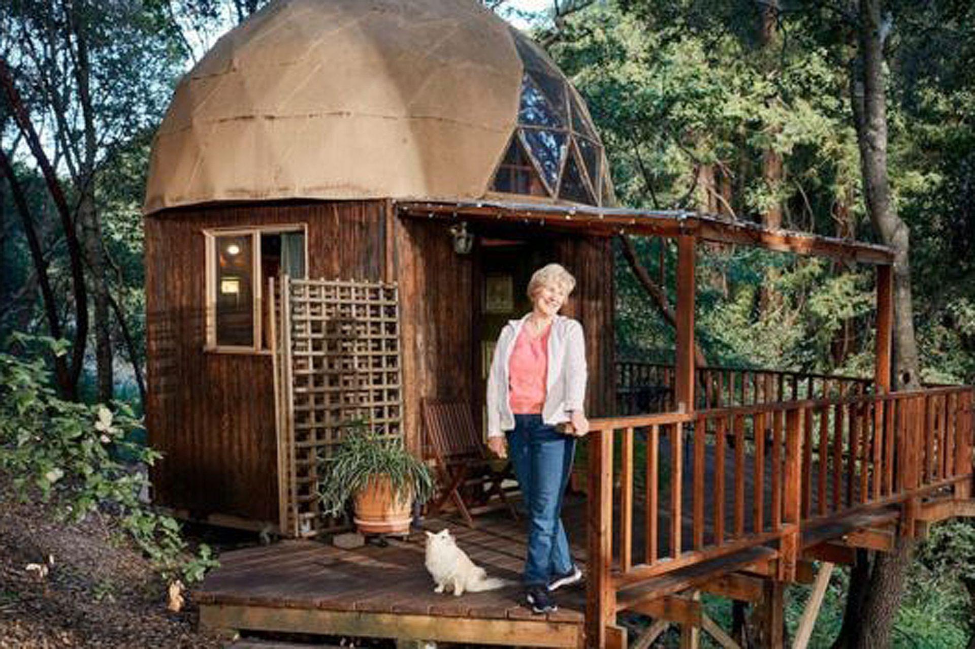 Mushroom Dome en Aptos, California, es el alojamiento de Airbnb con más visitantes