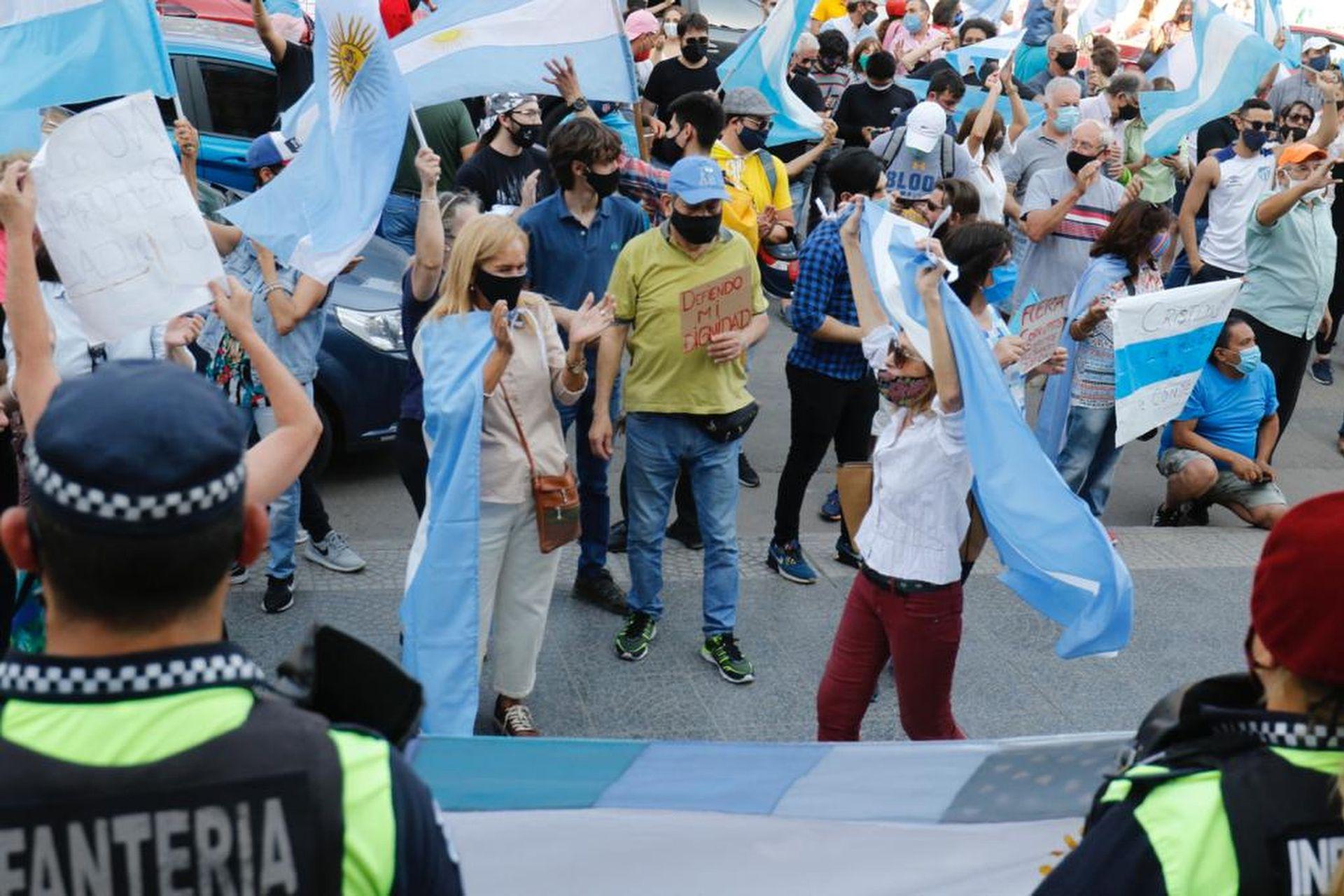 La protesta en Tucumán