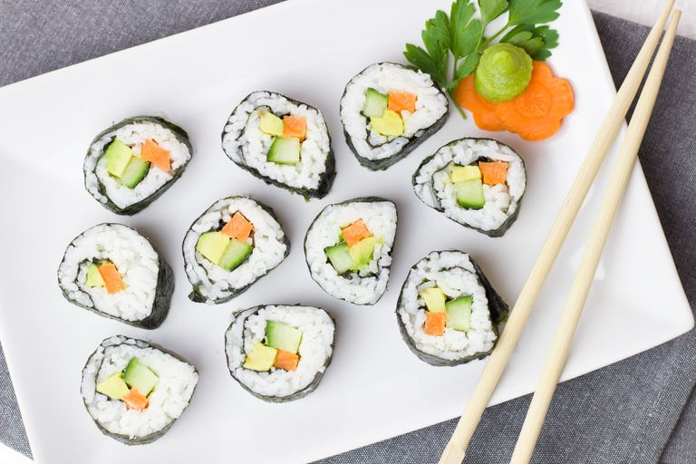 Opciones vegetarianas y veganas para los amantes del sushi.