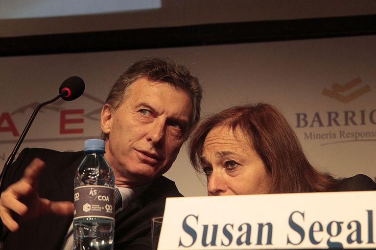 Mauricio Macri y Susan Segal, esta mañana