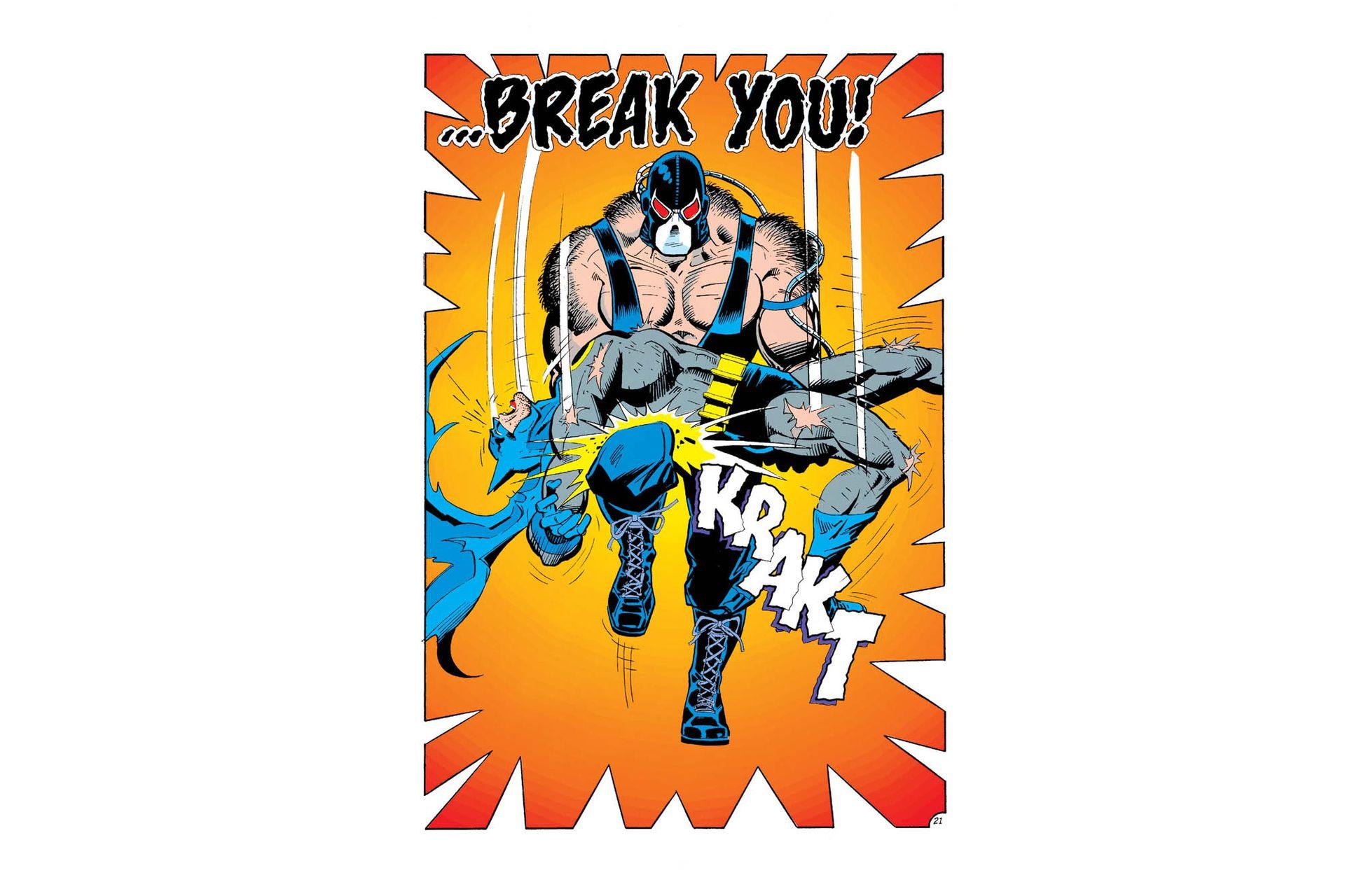 Bane deja paralizado a Batman