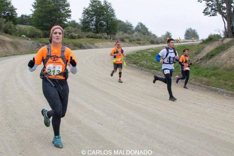 Caminos de ripio fueron parte de Maratón Glaciar Martial