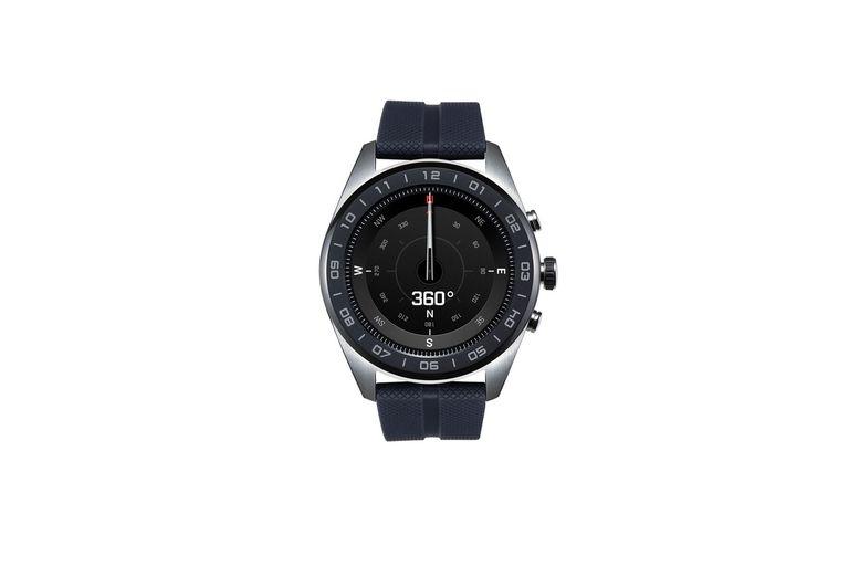 Teléfono + reloj inteligente. Quienes compren un smartwatch LG G8S durante su lanzamiento recibirán de regalo el reloj W7 (foto), que tiene caja de acero inoxidable, agujas mecánicas y pantalla táctil de 1,2 pulgadas. (Desde $53.999)