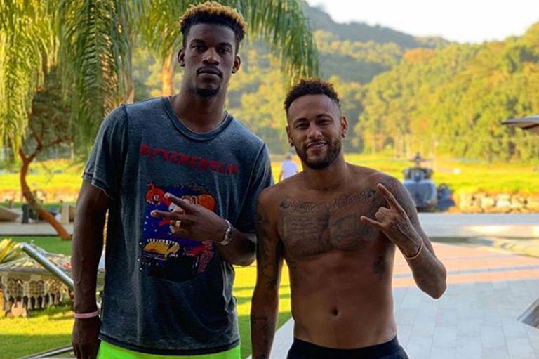Redes. Neymar y Jimmy Butler, una pareja explosiva que se divierte en Brasil
