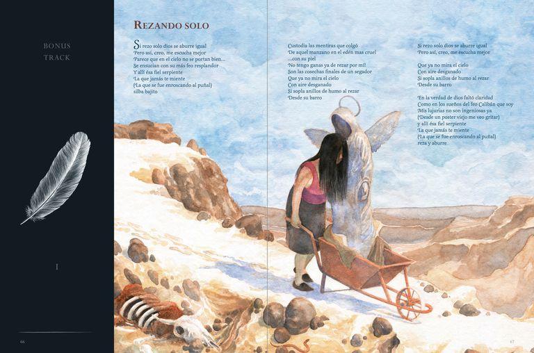 """Una de las nuevas canciones de Los Fundamentalistas del Aire Acondicionado, """"Rezando solo"""", está incluida en este álbum gráfico"""