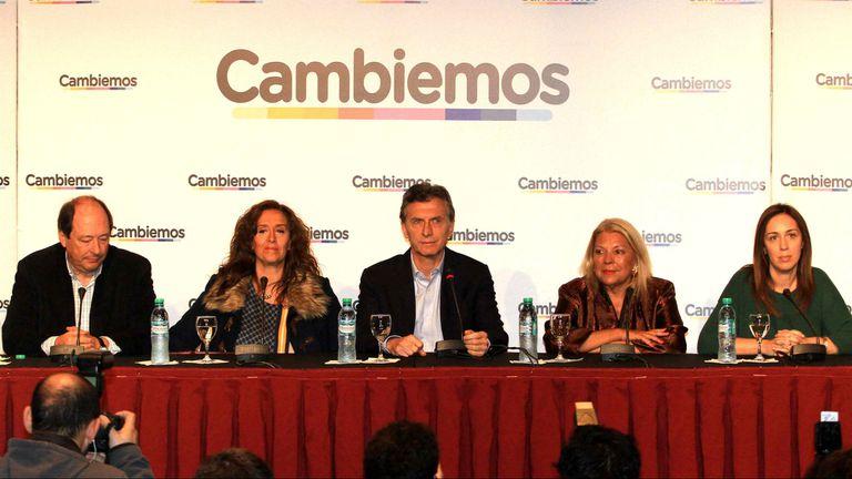 Sanz, Michetti, Macri, Carrió y Vidal, las principales figuras de Cambiemos