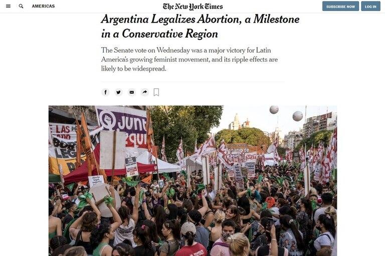 Alrededor del mundo, la aprobación de la ley fue noticia