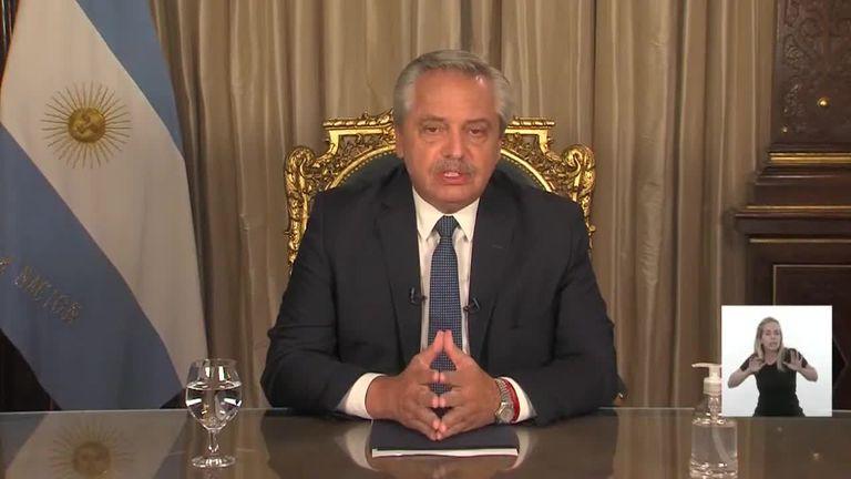 Alberto Fernández, en cadena nacional sobre la situación del coronavirus
