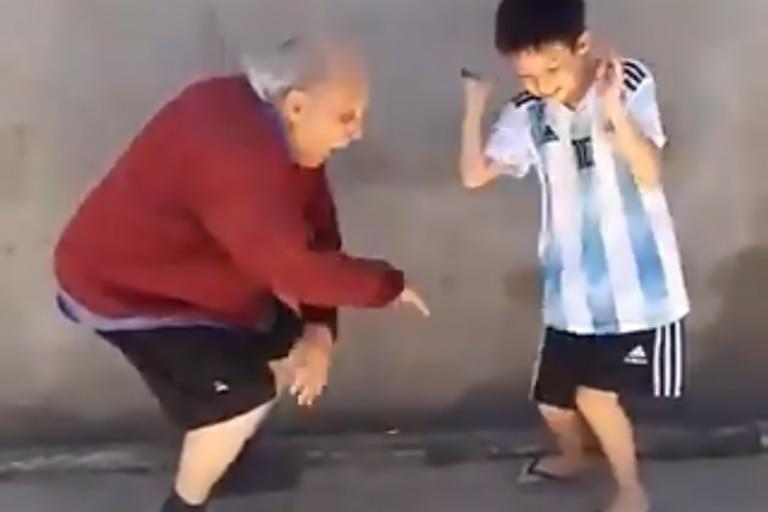 Este video de un abuelo bailando es la nueva sensación de las redes sociales