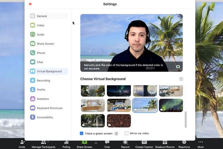 Zoom permite personalizar el fondo de las videollamadas con retratos predeterminados o imágenes a medida