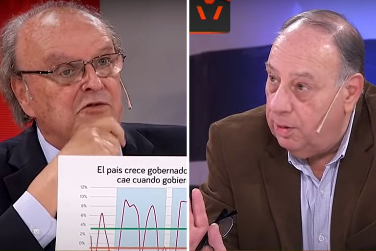 Tenso debate entre Cachanosky y De Mendiguren en un estudio de TV