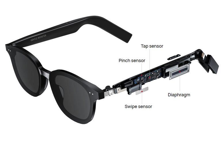 Los anteojos inteligentes de Huawei están equipados con un parlante y un sensor táctil ubicado en la patilla