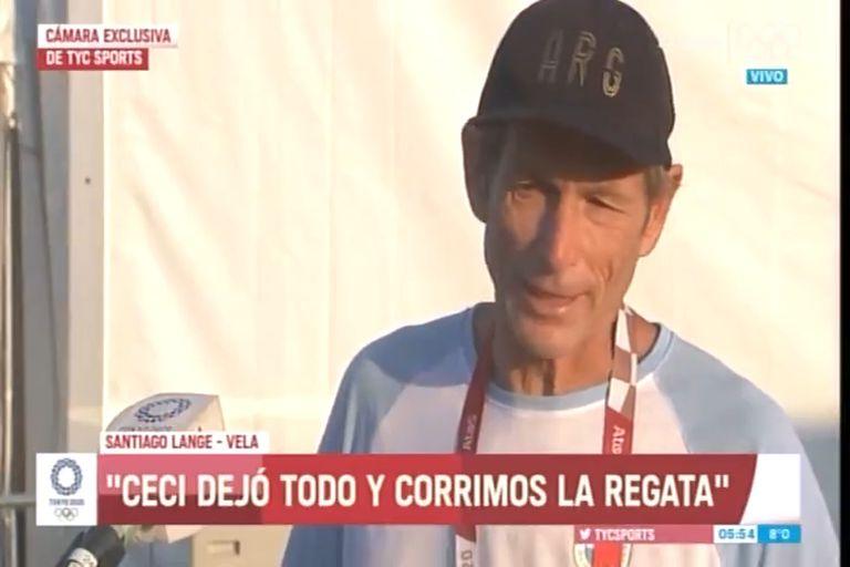 Las lágrimas de Santiago Lange por la lesión de su compañera en plena regata