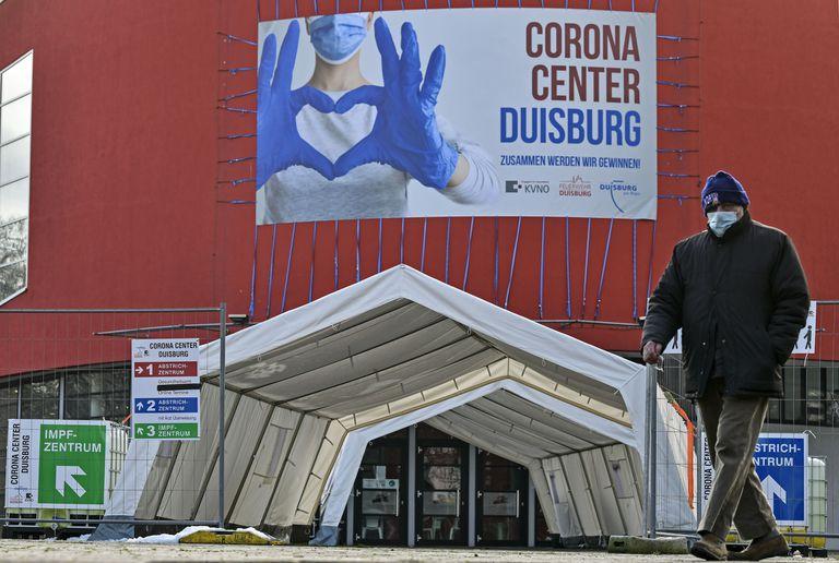Centro de vacunación en Duisburg, Alemania