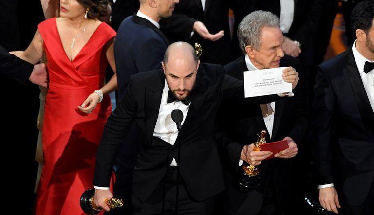 El momento de la revelación de la verdadera ganadora del premio a mejor película