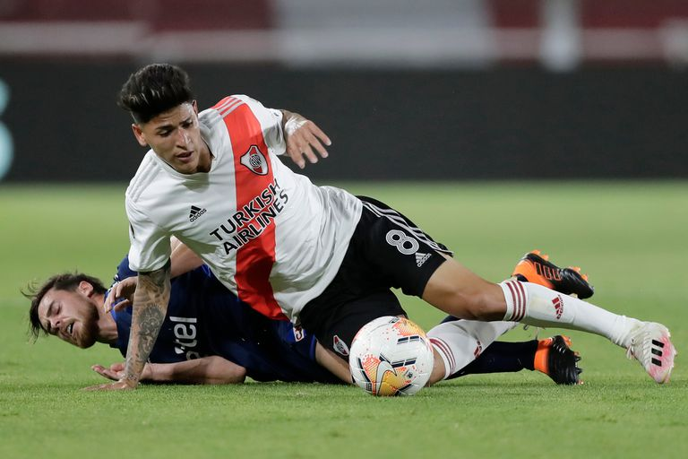 Jorge Carrascal se ganó un lugar en los últimos partidos como titular en el River de Gallardo