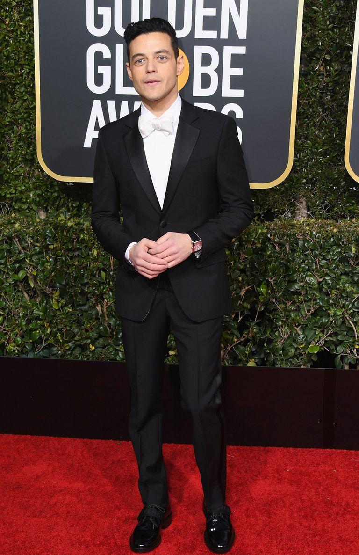 Rami Malek, uno de los grandes ganadores de la noche, vestido por Givenchy