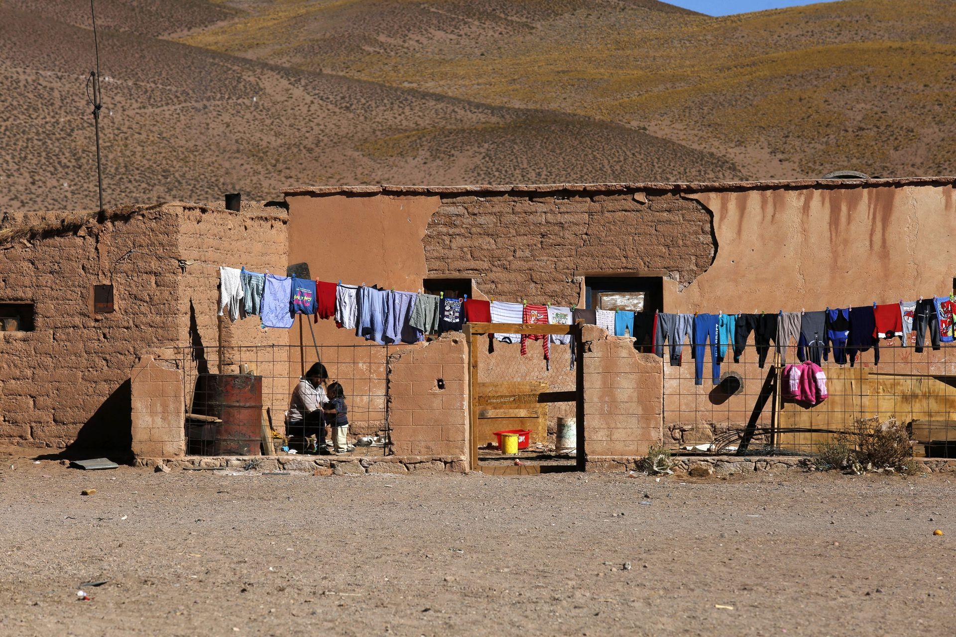 Una casa típica de Olacapato