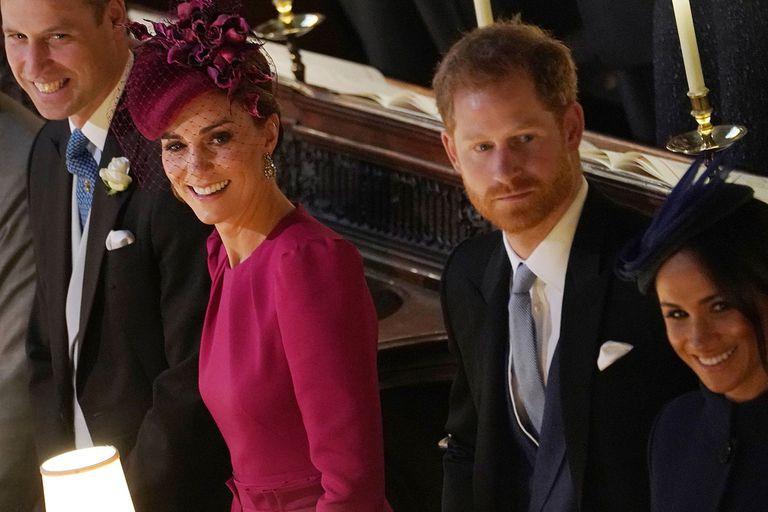 El duelo de estilo de Kate y Meghan en la boda de la princesa Eugenia