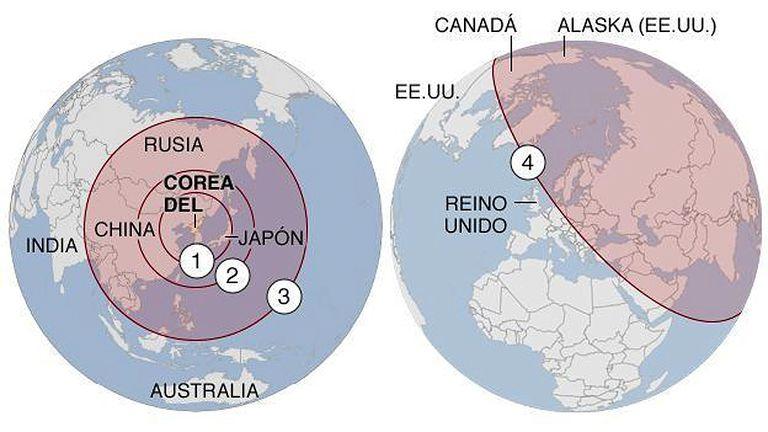 Hasta dónde podrían llegar los misiles de Corea del Norte?