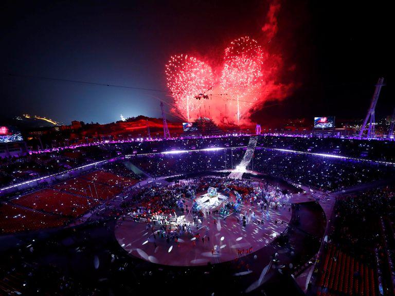 La ceremonia de clausura de los Juegos Olímpicos de invierno en Pyeongchang