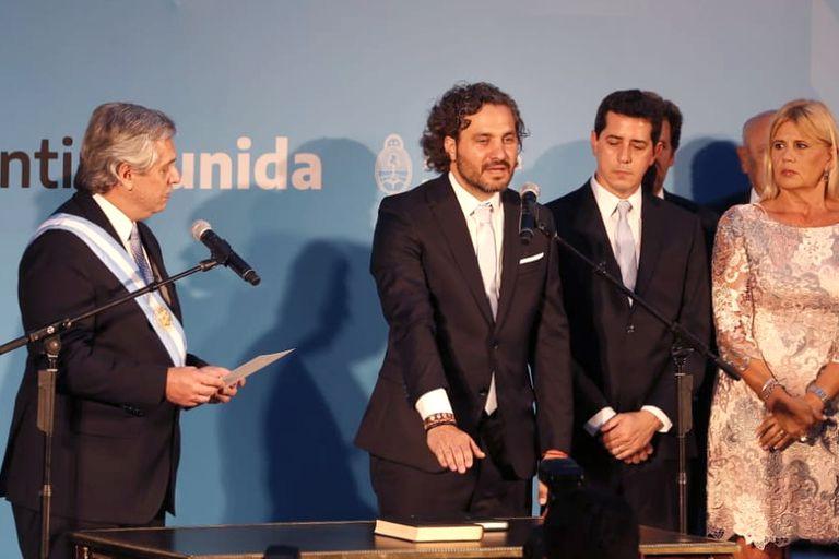 Aníbal Fernández, el exjefe de gabinete de Cristina Kirchner que hoy ejerce como abogado, estaba acompañado por uno de sus clientes, el dueño de Oil Combustibles