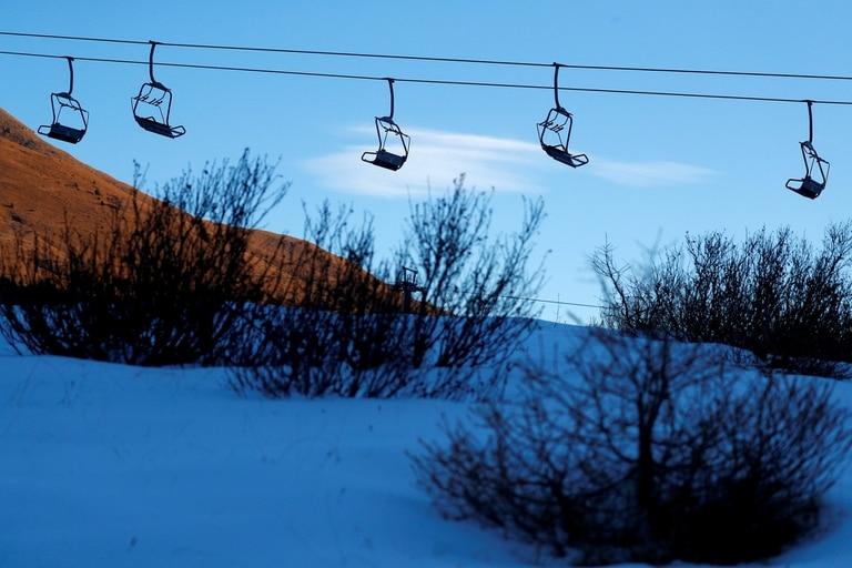 Un centro de ski cerrado en Italia