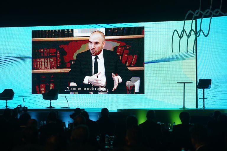 El ministro de Economía, Martín Guzmán, en una entrevista grabada durante el 57° Coloquio IDEA