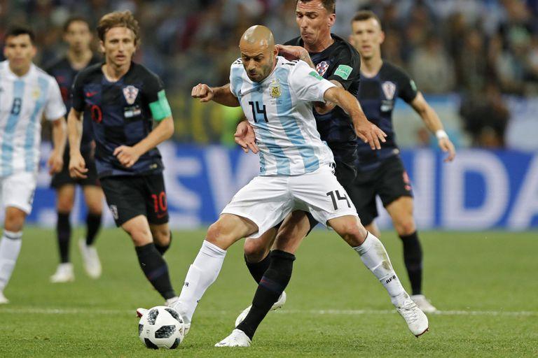 Mascherano, durante un partido de la selección: en el Mundial de Rusia se despidió de esa camiseta.