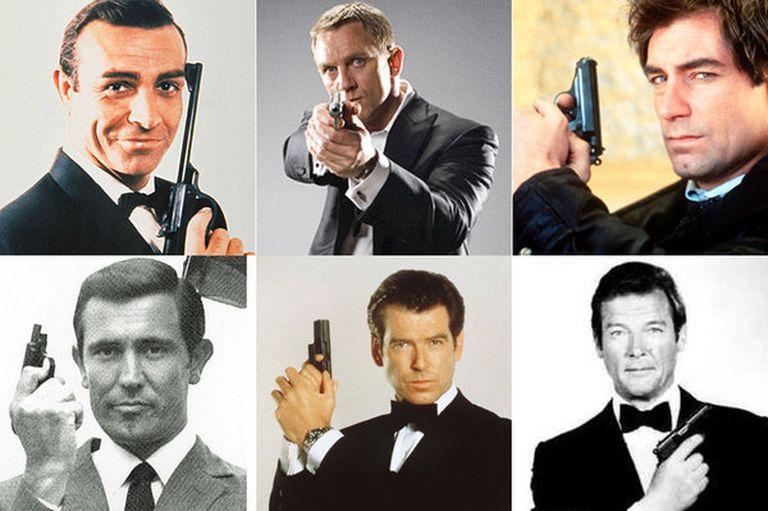 Sean Connery, Daniel Craig, Timothy Dalton, George Lazaby, Pierce Brosnan y Roger Moore