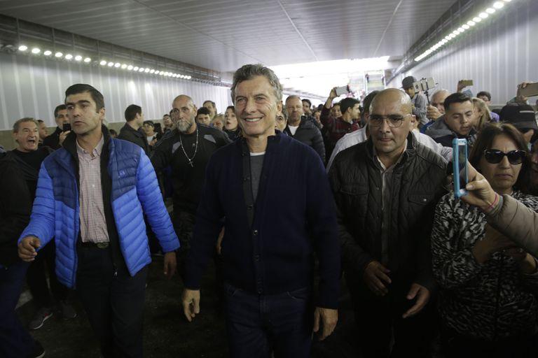 El presidente Macri visitó el lugar en la jornada previa a la inauguración del Paseo del Bajo