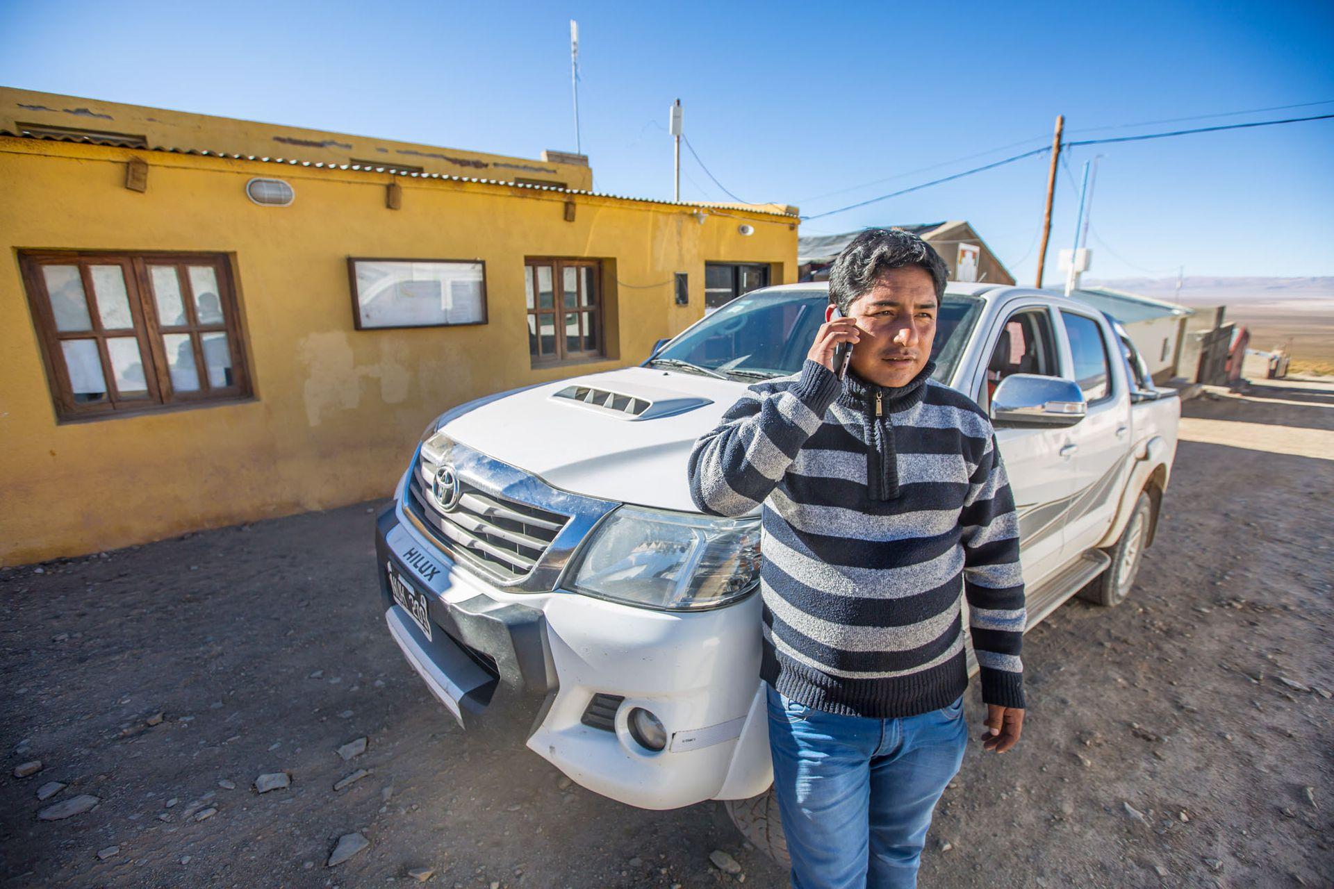 Mario Gerónimo, ex minero ahora empresario transportista de Olaroz