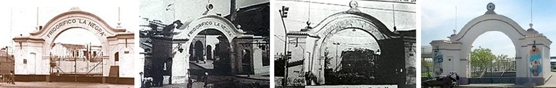 El emblemático arco de La Negra en Avellaneda, donde hoy funciona un hipermercado.