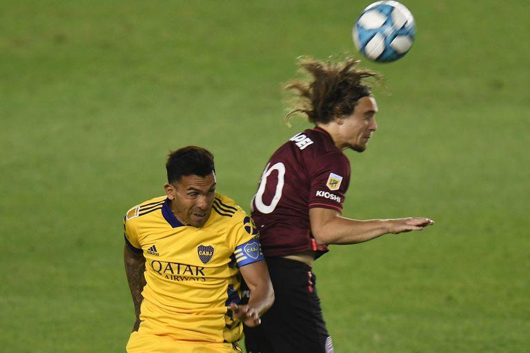 Tevez marcó el primer gol de Boca en la Copa Liga Profesional