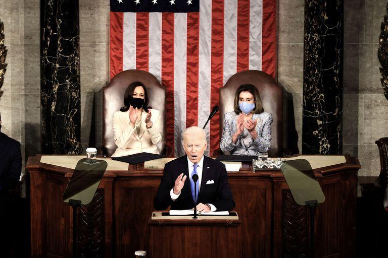Joe Biden se dirige al Congreso de su país para anunciar el plan de ayuda económica