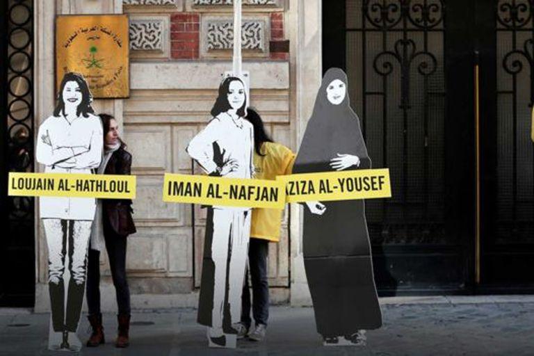 En las embajadas sauditas alrededor del mundo se han organizado protestas para pedir la liberación de los disidentes encarcelados