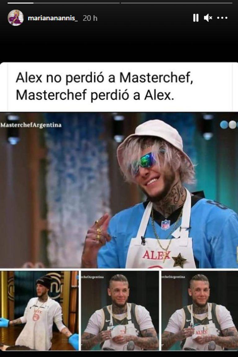 Mariana Nannis opinó sobre la abrupta salida de Alex Caniggia de Masterchef Celebrity