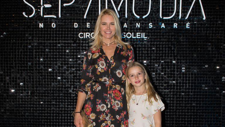 Valeria Mazza junto a su hija Taina