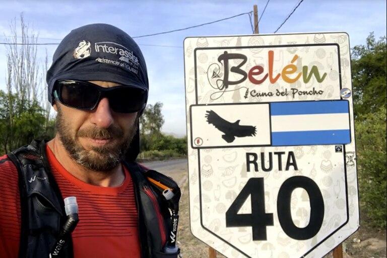 Por la ruta 40, en Belén, Catamarca: la travesía en pleno