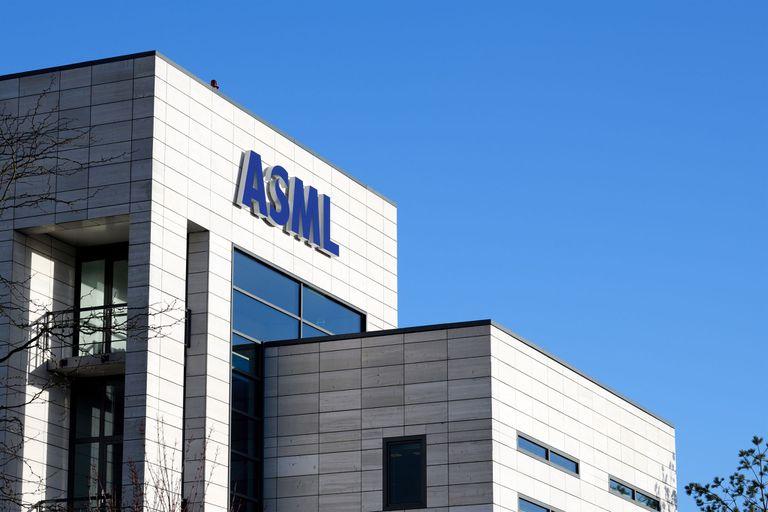 20-01-2021 Logo de ASML en las oficinas de la empresa. POLITICA ECONOMIA EMPRESAS ASML