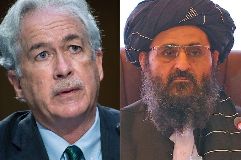 William Burns y Baradar se reunieron el pasado lunes en Afganistán