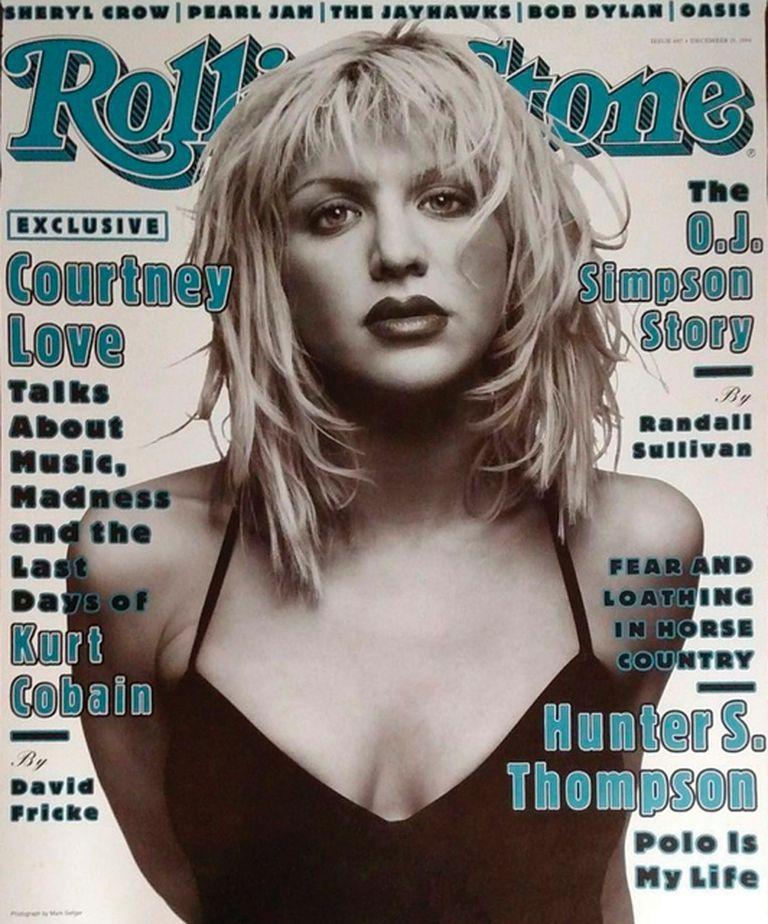 También en 1994, Love llegó a la tapa de RS con su primera entrevista tras la muerte de Cobain