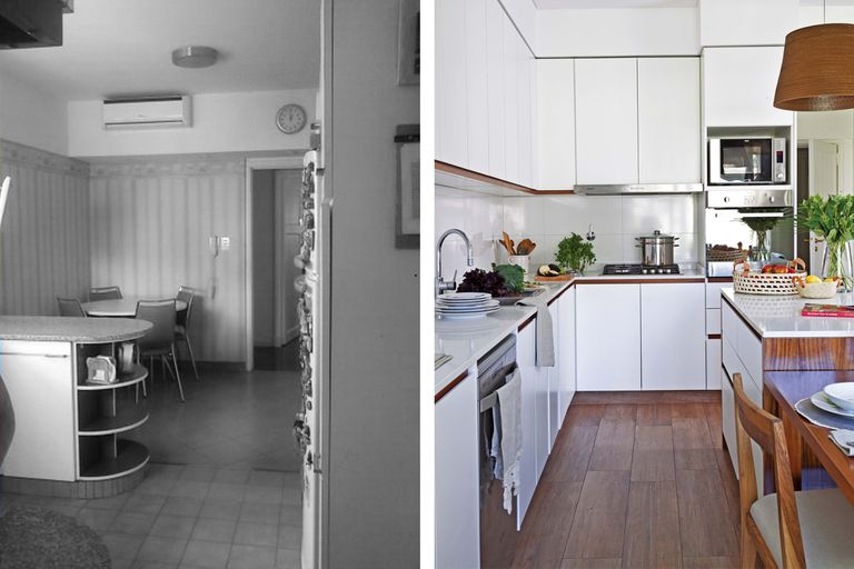 Irreconocible. Una cocina que sumó metros y vista hacia el jardín