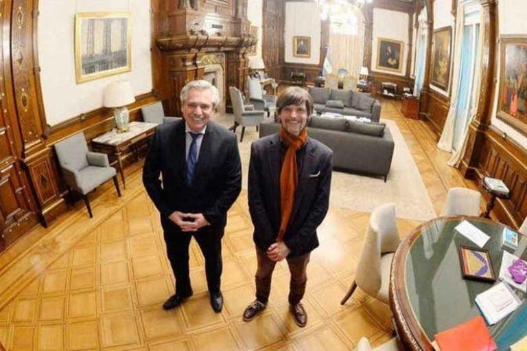 Sabino Vaca Narvaja, junto a Alberto Fernández